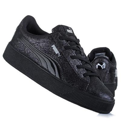 Czarne trampki Puma Basket lakierki 38