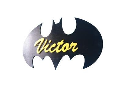 лампа ночная Бэтмен имя LED батареи