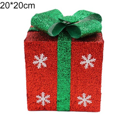 Открытка коробка подарки красное 20 * 20 см