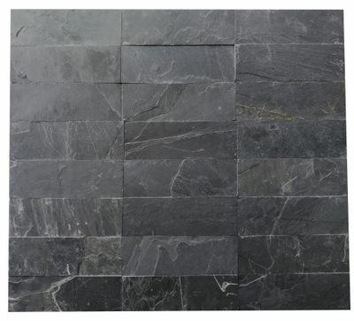 камень Фасадная Сланец Black Slate 30x10