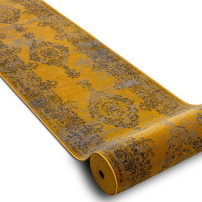 CHODNIK VINTAGE 80 cm ORNAMENT żółty ^*Q2788