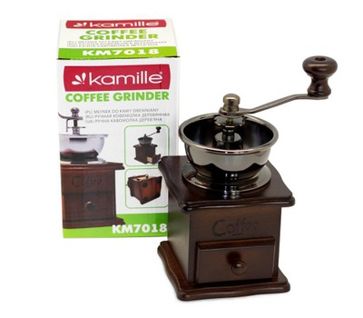 ručný Mlynček na mletie kávy a korenie KAMILLE
