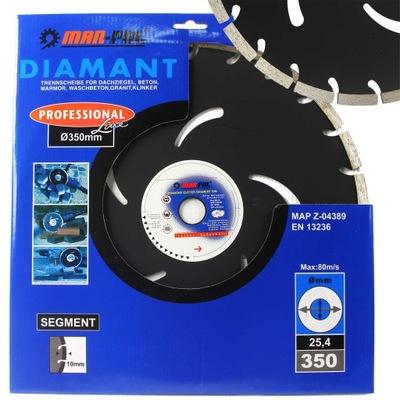 диск DIAMOND 350 25 ,4 кубик бетон MAR-ПОЛТОРА