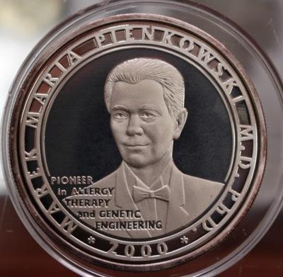 США - Медаль частная М .М Пеньковски серебро