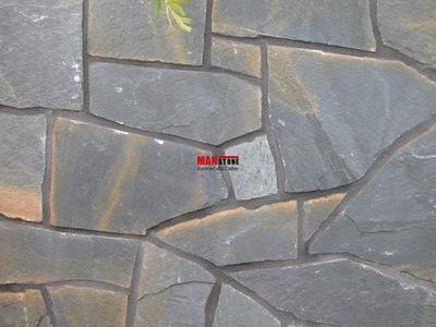 КВАРЦИТ ТЕМНО-СЕРЫЙ, камень натуральный , ДОМ