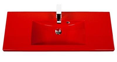 Umývadlo Obdĺžnikové umývadlo 100x39 Clever-1000 červené
