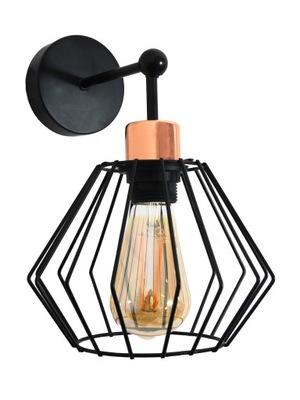LAMPY na STENU SCONCES V PODKROVÍ E27 BLACK SIENA