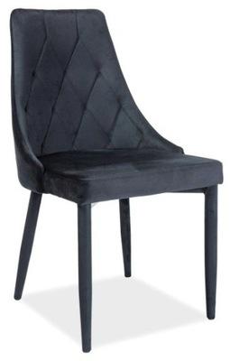 Krzesło pikowane TRIX velvet 14 szary Signal