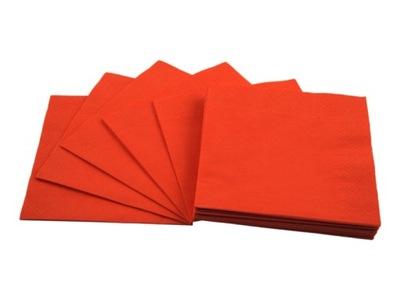 Serwetki 33x33 pomarańczowe 20 sztuk