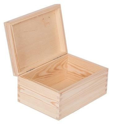 Organizér, kufrík, skrinka - DREWNIANE PUDEŁKO 22x16x10,5 szkatułka DECOUPAGE