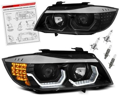 BMW 3 E90 E91 ФАРЫ ФАРЫ LED (СВЕТОДИОД ) RINGI 3D H7/H1