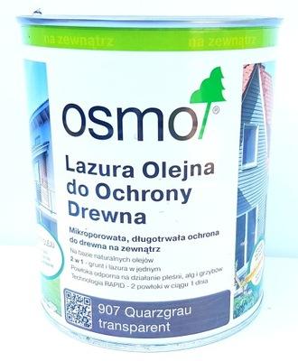 OSMO 907 Lazur Olej 0.75 l, KREMEŇ, ŠEDÁ