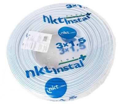 Kábel YDYp 3x1,5 450/750V 100 m NKT inštaláciu+ F-s DPH