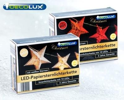 Przepiękne lampki choinkowe LED -papierowe gwiazdy