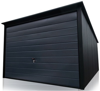 GARAŻ BLASZANY Garaże blaszane 3x5 Grafit Black
