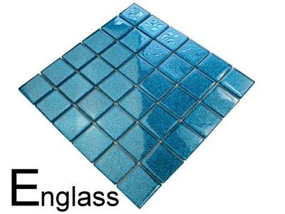 Мозаика стекло Бирюза БЛЕСК 48
