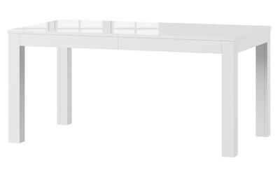 Stół Biały Połysk Rozkładany 90x160 cm Wenus