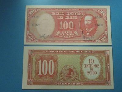 Чили Банкнота 100 Песо 1960-?????????? один UNC P-127a