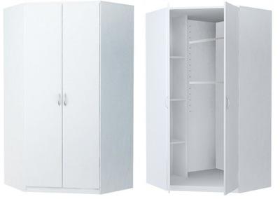 шкаф шкаф Угловой CORNER 2D белая комод, книжный шкаф