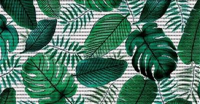 MATA łazienkowa ANTYPOŚLIZGOWA zielone liście