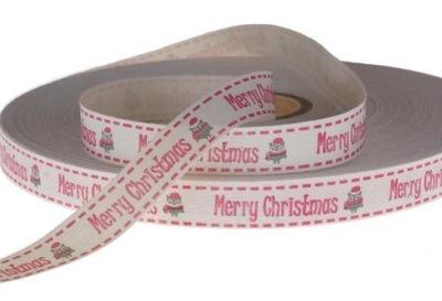 ленточка, из натурального материала Merry Christmas