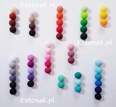 Lampki cotton balls 20 led dowolne kolory
