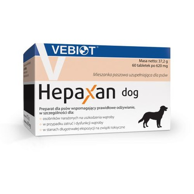 Vebiot Hepaxan dog 60 tabletek