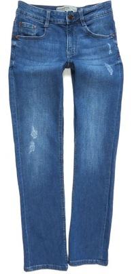 CLOCKHOUSE spodnie jeansy proste przetarcia 34/36