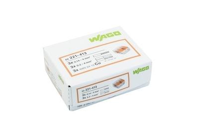 WAGO rýchly konektor 221-413 3x0,2-4 mm, 50PCS
