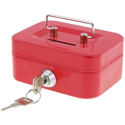 контейнер для денег Сейф копилка красная