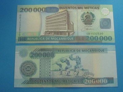 Мозамбик Банкнота 200000 Meticais 2003 UNC P-141