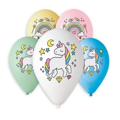 Воздушные шары на день Рождения Единорог Большие-5 штук -33см