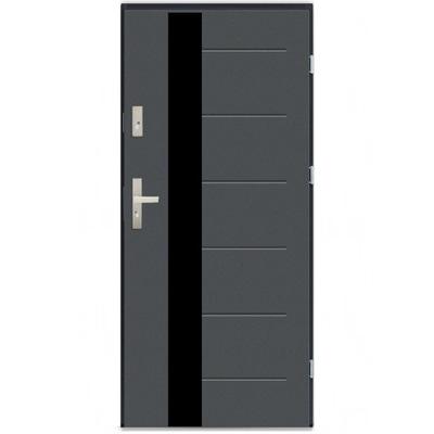 двери Внешние СТАЛЬНЫЕ T29 black glass