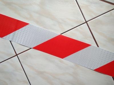 Taśma odblaskowa 20cm konturowa pasy plaster miodu