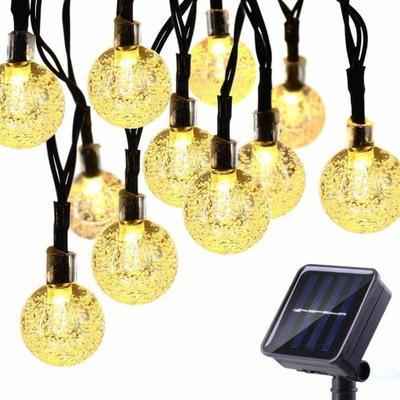 50 Led 7 M Lampki Solarne Ogrodowe Żarówka Lampa