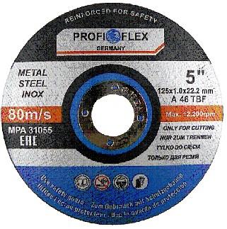 TARCZA DO CIĘCIA METALU 125 x 1,0 PROFIFLEX x10szt
