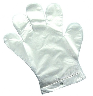 Мастер перчатки одноразовые пленки HDPE Л 100 штук .