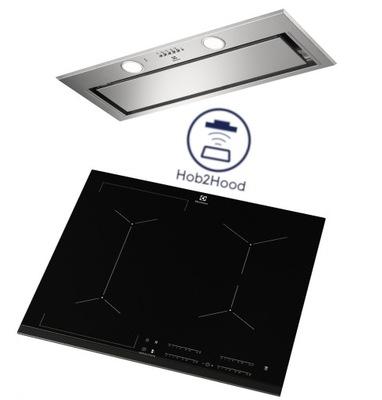 плита + вытяжка Electrolux EIV634 LFG719X HOOB2HOOD