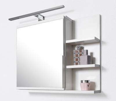 Biała szafka z lustrem i LED, szafka łazienkowa