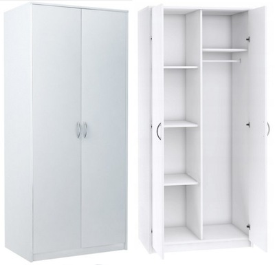 шкаф dwudrzwiowa стеллаж одежды 2D4P белая