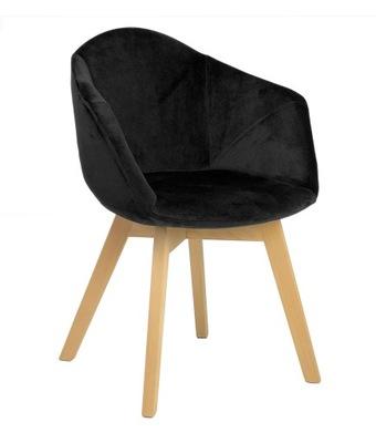 Мягкий стул Лена Velvet black