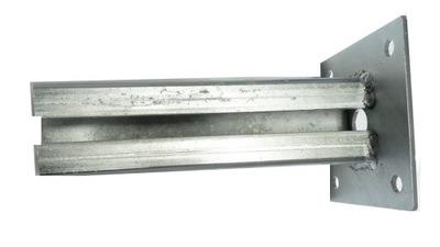 Основа столбика нога 60х40 оцинкованный прикручиваемая