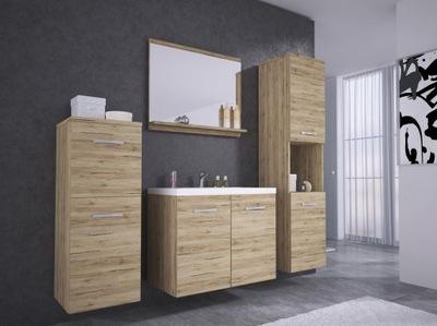 Мебель для ванной комнаты тумба умывальник зеркало 2 столбик