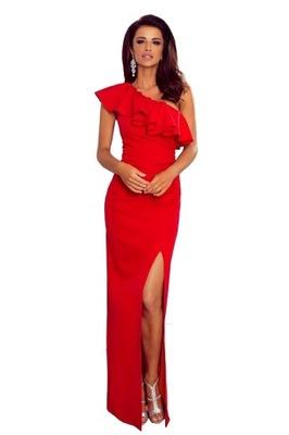 0d60bfd96e Długa sukienka na jedno ramię 36 7767646302 - Allegro.pl