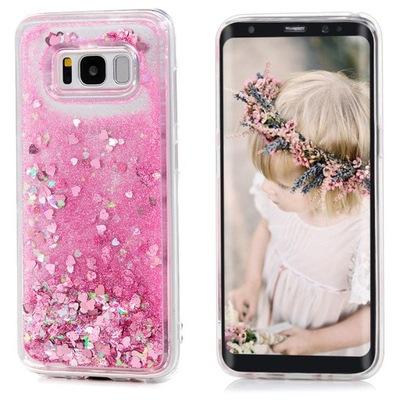 Etui Liquid Case Płynny Brokat do Huawei Y5 2018