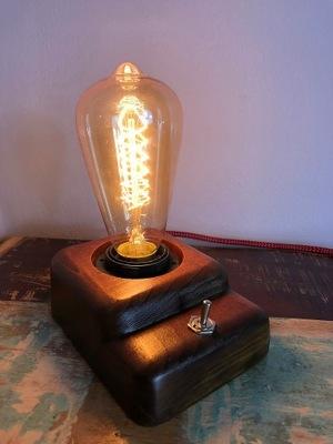 LAMPY, EDISON RETRO PRIEMYSELNÝ LOFT DARČEK orech
