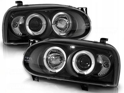 REFLEKTORY VW GOLF 3 III 91-97R RINGI SONAR BLACK