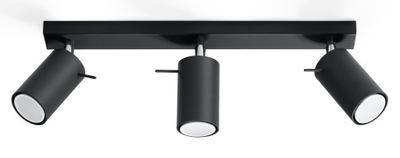 Plafon RING 3 Czarny LED! Gu10 Regulowany SOLLUX