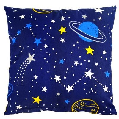 Poszewka na jaśka poduszkę 40x40 Kosmos Gwiazdy