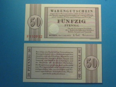 Германия Банкнот 50 Pfennig Пфеннигов 1973 UNC Бетел
